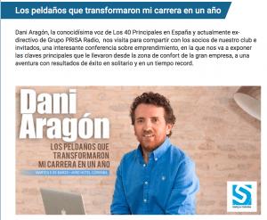 Exposición eventos empresa Sinergia. Conferencia Dani Aragón