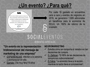 por qué hacer un evento de empresa. Diapositiva exposición Sinergia Córdoba